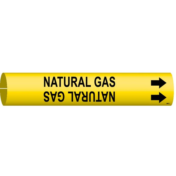Brady Pipe Markr, Natural Gas, Y, 2-1/2to3-7/8 In 4097-C