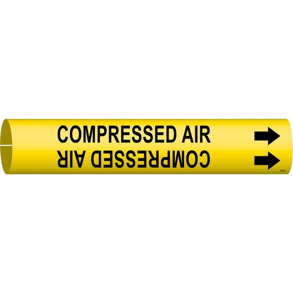Brady Pipe Marker, Compressed Air, Yel, 4 to 6 In 4032-D