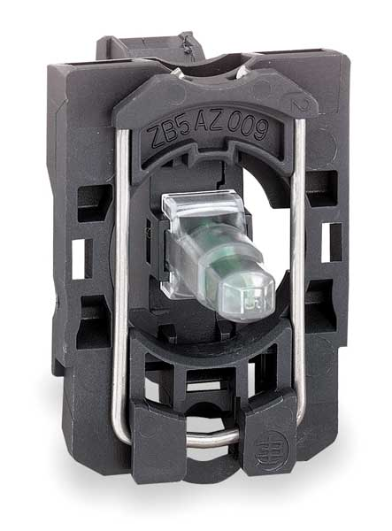 Schneider Electric Lamp Module,  22mm,  120VAC,  Green,  LED,  IP Rating: 20 ZB5AVG3