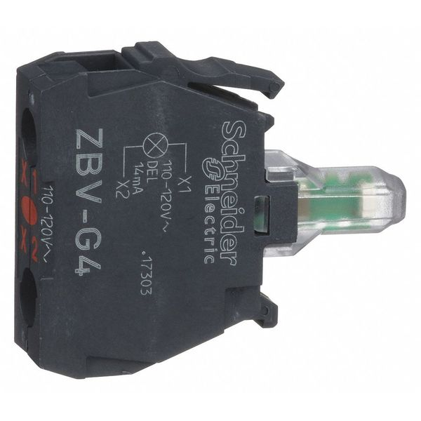 Schneider Electric Lamp Module, 22mm, 120VAC, Red, LED ZBVG4