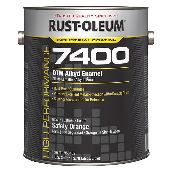 Rust-Oleum 1 gal. Safety Orange High Gloss Oil Interior/Exterior Paint 956402