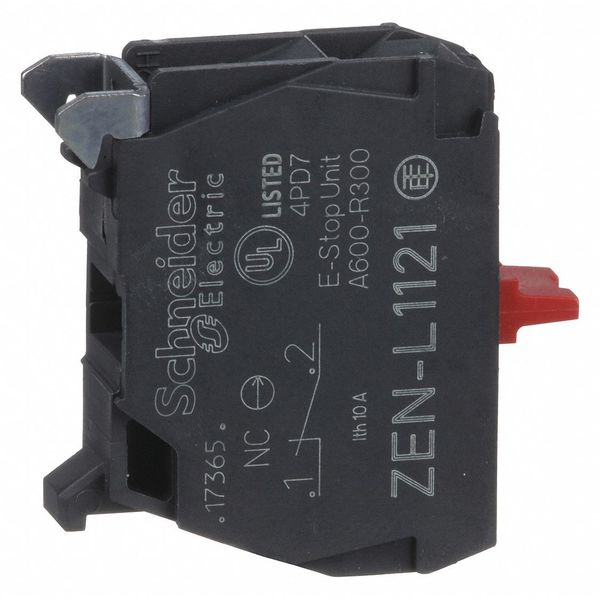Schneider Electric Contact Block, 1NC Slow Break, 22mm ZENL1121