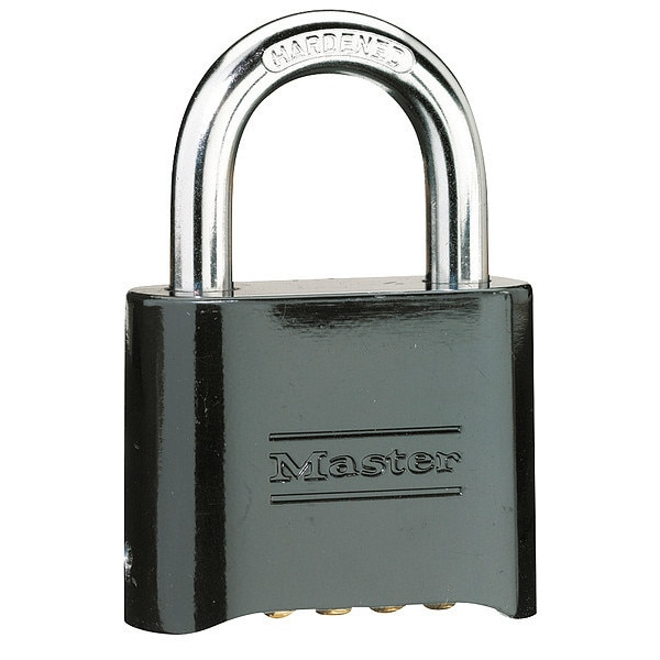 "Master Lock 2"" Black Set Your Own Combination Padlock 178D"