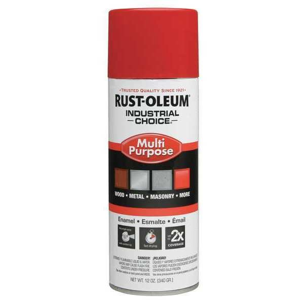 Rust-Oleum Spray Paint,  OSHA Safety Red,  Gloss,  12 oz. 1660830