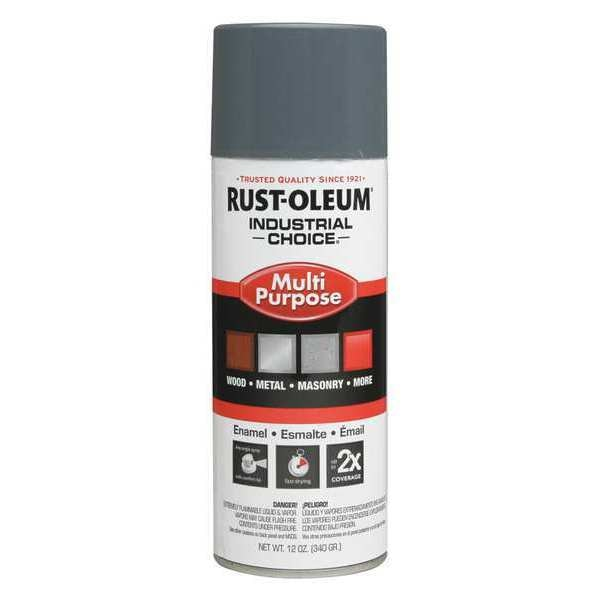 Rust-Oleum Spray Paint,  Universal Gray,  Gloss,  12 oz. 1686830