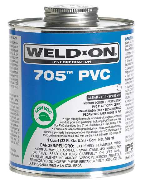 Weld-On PVC Clear Medium Bodied 1/2 Pint 13973