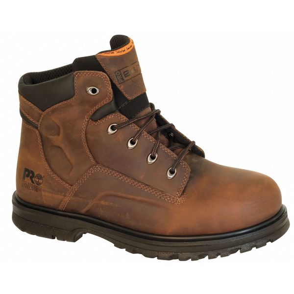 Timberland Pro Size 9-1/2 Men's 6 in Work Boot Steel Work Boot,  Brown 85591