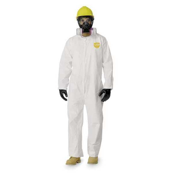 DUPONT NG120SWHXL002500 Collared Proshield 60 Coverall,White,Open,XL,PK25