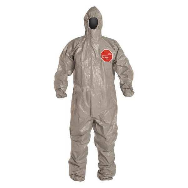 Dupont Hooded Chemical Resistant Coveralls ,  2XL ,  Gray ,  Tychem(R) 6000 ,  TF145TGY2X0006TV