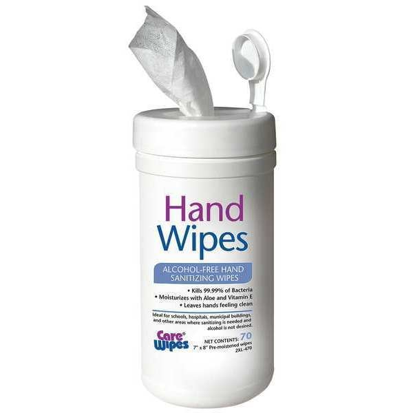 Care Wipes Alcohol-free Hand Sanitizing Wipes - 70ct 2XL-470