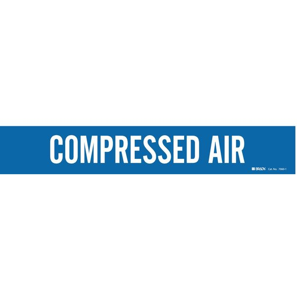 Brady Pipe Mrkr, Compressed Air, 2-1/2to7-7/8 In 7060-1