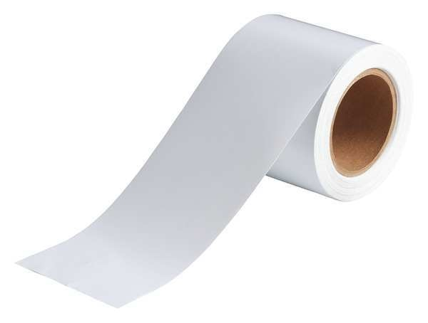 Brady Banding Tape, White, 4 In. W 91433