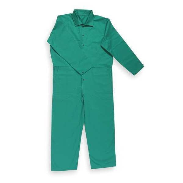 Condor Flame-Retardant Treated Cotton Coverall,  Green,  3XL 6NB97