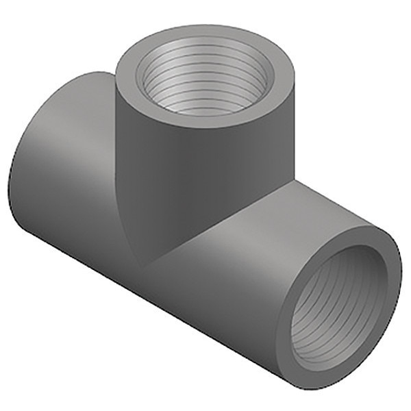 """Gf Piping Systems 1"""" FNPT PVC Tee Sched 80 805-010"""