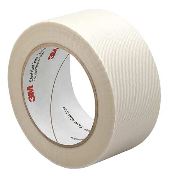 "3M Cloth Tape, 2 In x 36 yd, 7.5 mil, White 3M 69 2"" x 36 yds"
