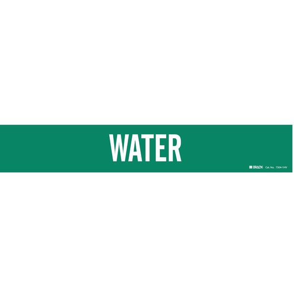 Brady Pipe Marker, Water, Green, 8 In or Greater 7304-1HV