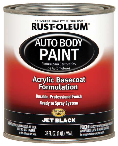 Rust-Oleum Auto Body Paint,  Jet Black,  1 Qt. 253500