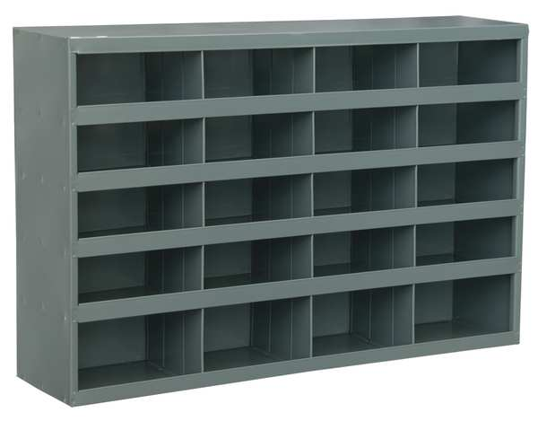 Durham Mfg Prime Cold Rolled Steel Pigeonhole Bin Unit ,  8 1/2 in D x Gray 394-95
