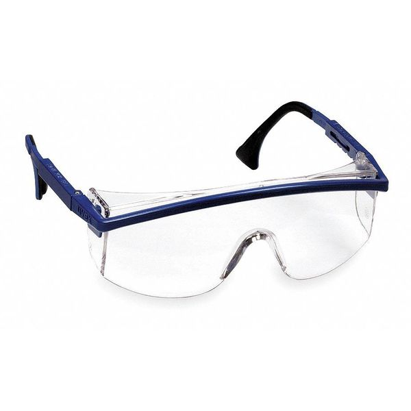 Honeywell Uvex Astrospec 3000® Safety Glasses Blue Frame And Clear Anti-Fog Lens S1299C