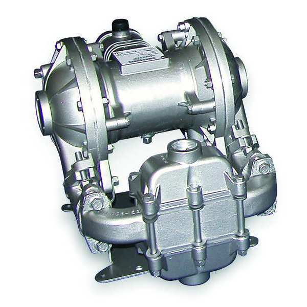 Sandpiper Double Diaphragm Pump,  Aluminum,  Air Operated,  Santoprene,  42 GPM SB1,SS5A.