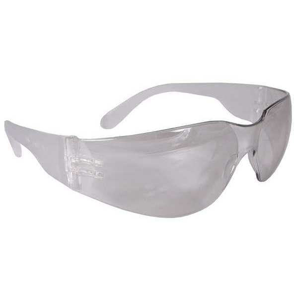 Radians Safety Glasses,  Wraparound Clear Polycarbonate Lens,  Uncoated MR0110ID