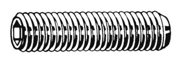 Pack of 2 3//16 18-8 Stainless Steel Socket Set Screw with Plain Finish; PK100 U51260.008.0018