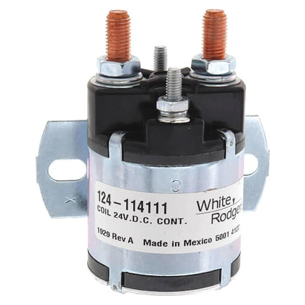 White-Rodgers DC Power Solenoid,  24V,  Amps 100,  Amps: 150 124-114111