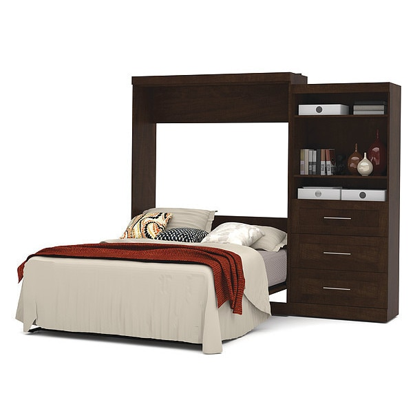 """Bestar Queen Wall Bed Kit, Chocolate, 101""""W 26881-69"""