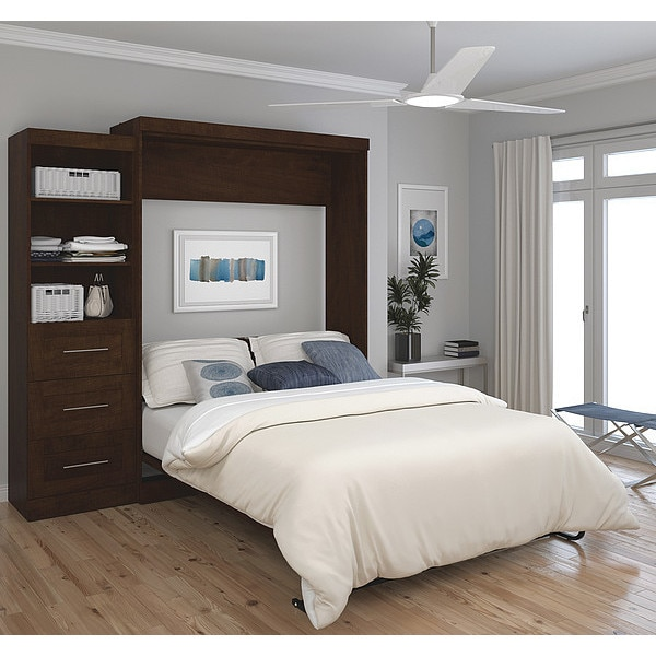 """Bestar Queen Wall Bed Kit, Pur, Chocolate, 90"""" 26869-69"""