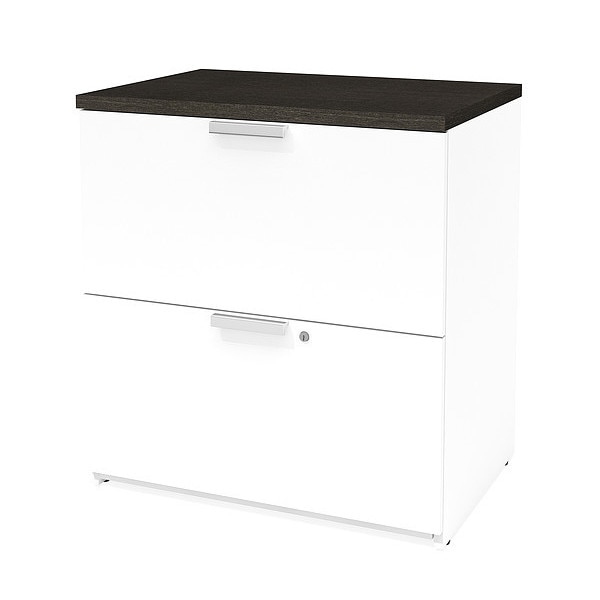 Bestar Lateral File, White/Deep Grey 110630-1117
