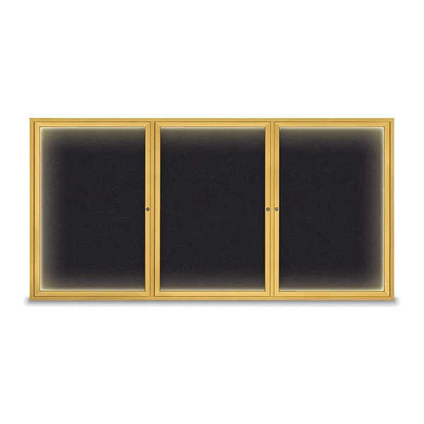"United Visual Products Corkboard, 96""x48"", Rubber/Gold UV420I-GOLD-RUBBER"