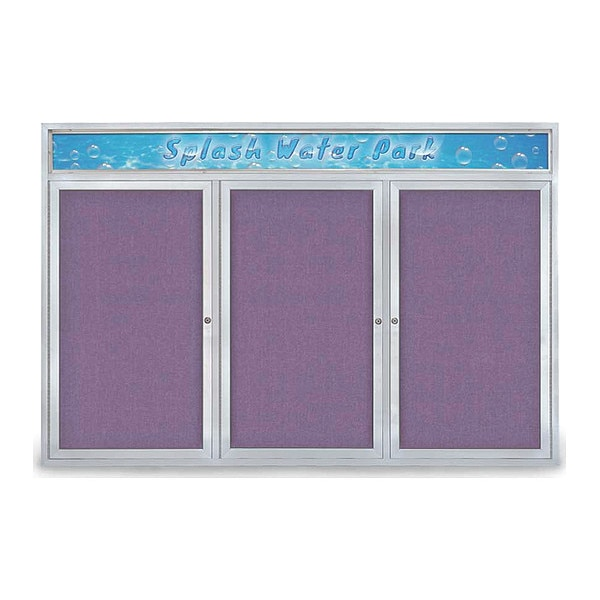 "United Visual Products Corkboard, 72""x48"", Amethyst/Satin UV434H-SATIN-AMETHY"