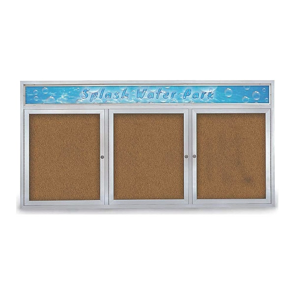 """United Visual Products Corkboard, 72""""x36"""", Synthetic Cork/Satin UV433H-SATIN-FORBO"""