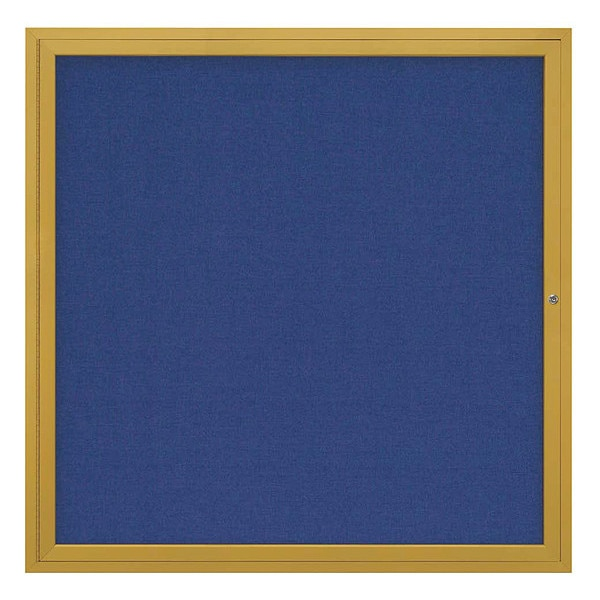 """United Visual Products Corkboard, 48""""x48"""", Cobalt Accent/Gold UV40448-GOLD-COBACC"""