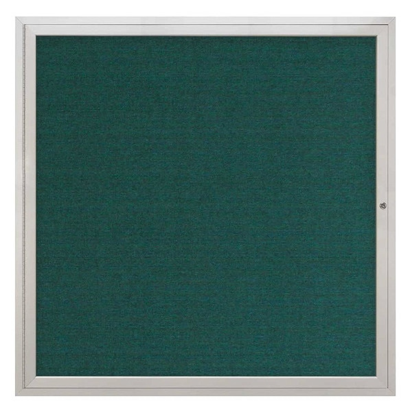 "United Visual Products Corkboard, 48""x48"", Dark Spruce/Satin UV40448-SATIN-DRKSPR"