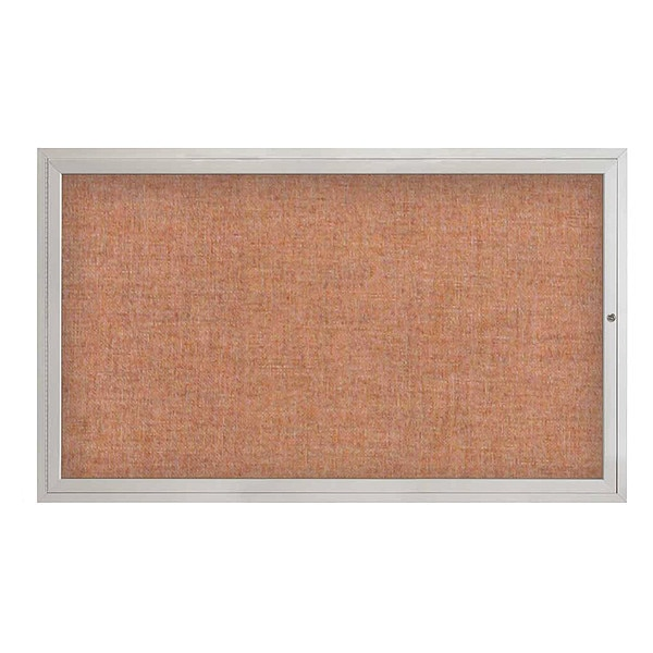 "United Visual Products Corkboard, 60""x36"", Cinnabar/Satin UV4051-SATIN-CINNABA"