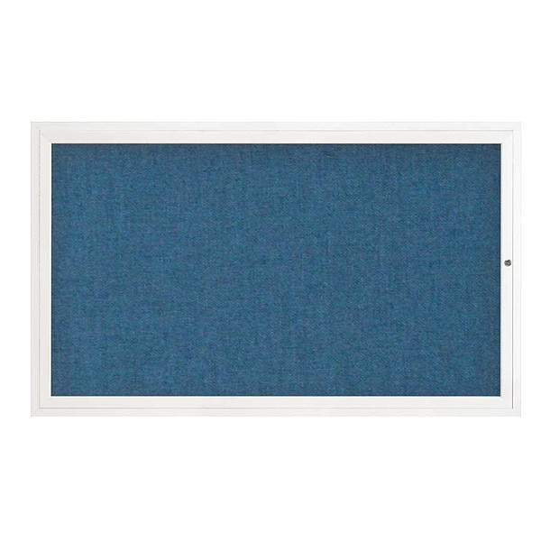 "United Visual Products Corkboard, 60""x36"", Ultramarine/White UV4051-WHITE-ULTMAR"