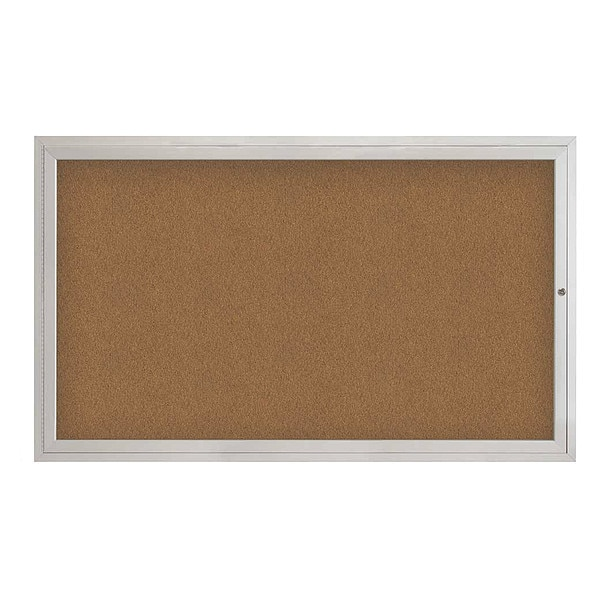 "United Visual Products Corkboard, 60""x36"", Synthetic Cork/Satin UV4051-SATIN-FORBO"