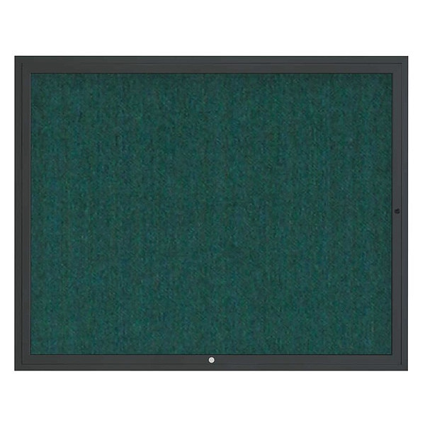 "United Visual Products Corkboard, 60""x48"", Dark Spruce/Black UV4052-BLACK-DRKSPR"