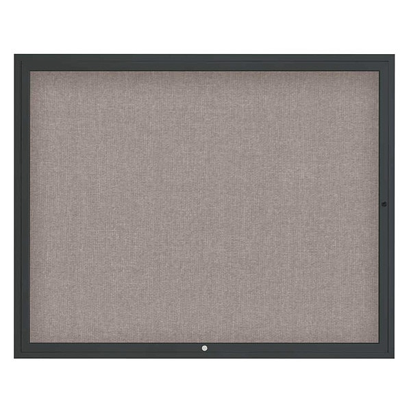 "United Visual Products Corkboard, 60""x48"", Pearl/Black UV4052-BLACK-PEARL"