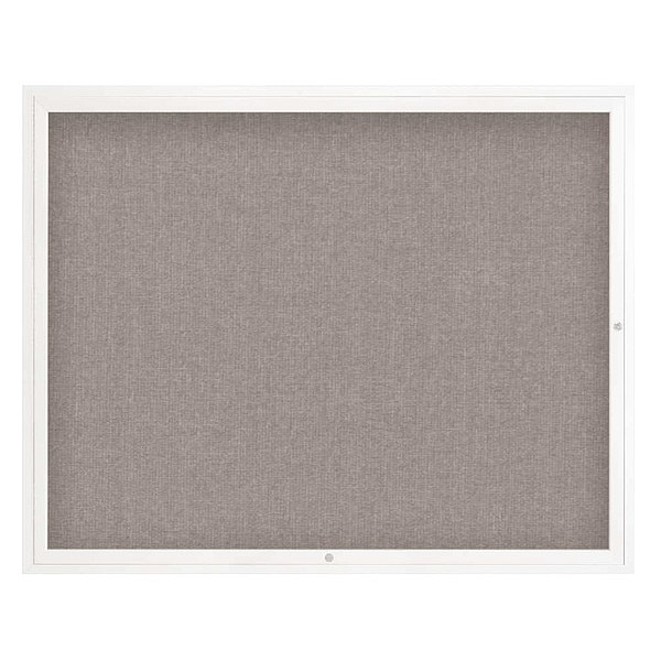 "United Visual Products Corkboard, 60""x48"", Pearl/White UV4052-WHITE-PEARL"