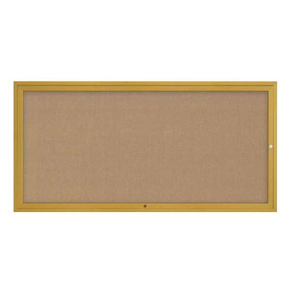 "United Visual Products Corkboard, 72""x36"", Buff/Gold UV4071-GOLD-BUFF"