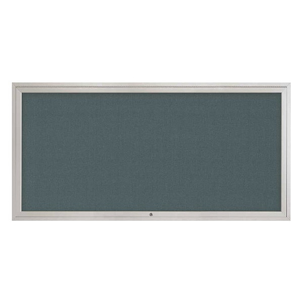 "United Visual Products Corkboard, 72""x36"", Blue Spruce/Satin UV4071-SATIN-BLSPRU"