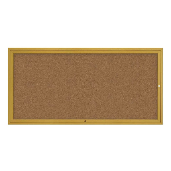 """United Visual Products Corkboard, 72""""x36"""", Synthetic Cork/Gold UV4071-GOLD-FORBO"""