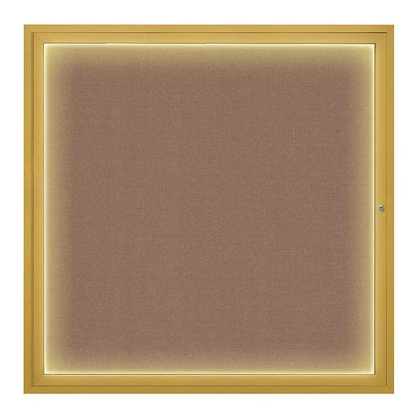 "United Visual Products Corkboard, 48""x48"", Pumice/Gold UV416I48-GOLD-PUMICE"