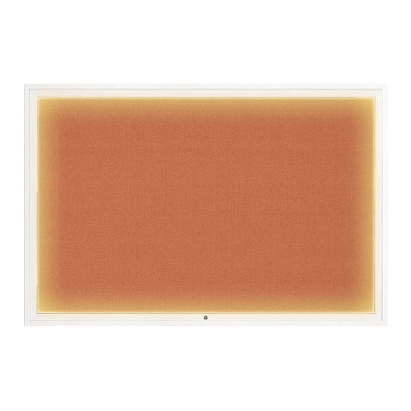 "United Visual Products Corkboard, 72""x48"", Apricot/White UV419ILED1-WHITE-APRICOT"