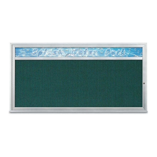 "United Visual Products Corkboard, 72""x36"", Dark Spruce/Satin UV433H1-SATIN-DRKSPR"