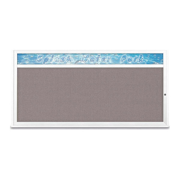 "United Visual Products Corkboard, 72""x36"", Surf/White UV433H1-WHITE-SURF"