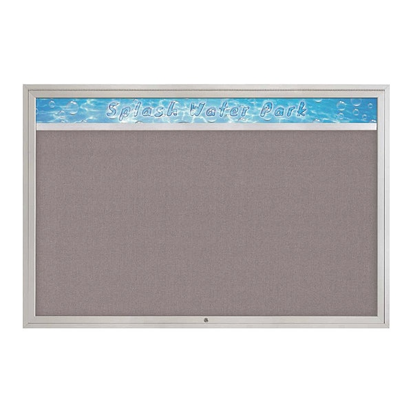 """United Visual Products Corkboard, 72""""x48"""", Surf/Gold UV434H1-GOLD-SURF"""