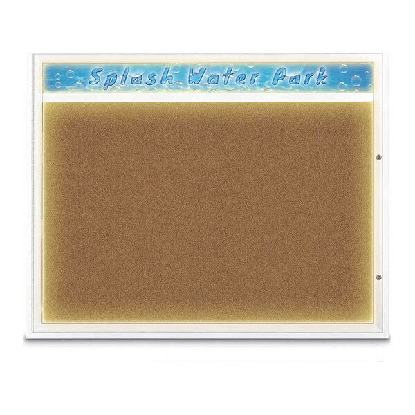 """United Visual Products Corkboard, 60""""x48"""", Synthetic Cork/White UV452HILED2-WHITE-FORBO"""